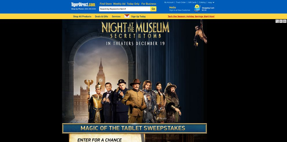Tigerdirect S Magic Of The Tablet Sweepstakes