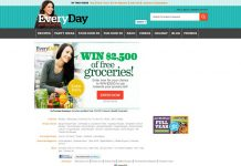 Every Day With Rachael Ray $2,500 Grocery Sweepstakes
