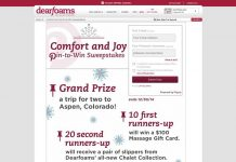 Dearfoams Comfort & Joy Pin-To-Win Sweepstakes