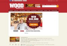 Wood Magazine Over-the-Top Shop Sweepstakes (Woodmagazine.com/10kshop)