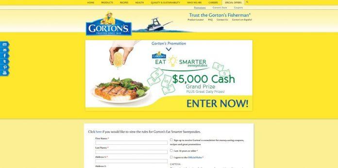 Gorton's Eat Smarter Sweepstakes