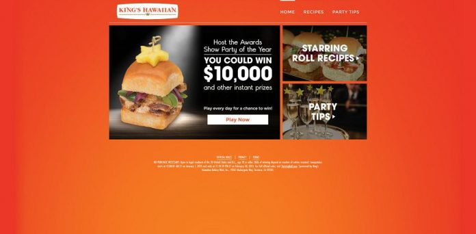 King's Hawaiian Starring Roll Sweepstakes
