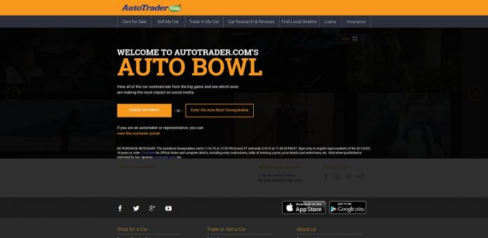 AutoTrader.com's AutoBowl Sweepstakes