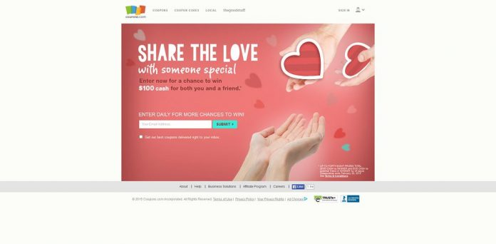 Coupons.com Share the Love Sweepstakes