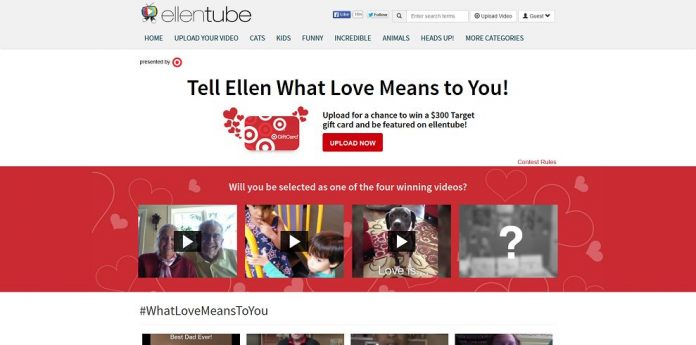 ellentube's Tell Ellen What Love Means To You Contest