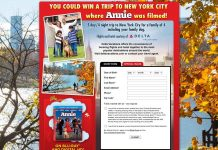 ANNIE Have a Doggone Good Time in New York City Sweepstakes