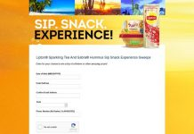 Lipton Sparking Tea And Sabra Hummus Sip. Snack. Experience. Promotion