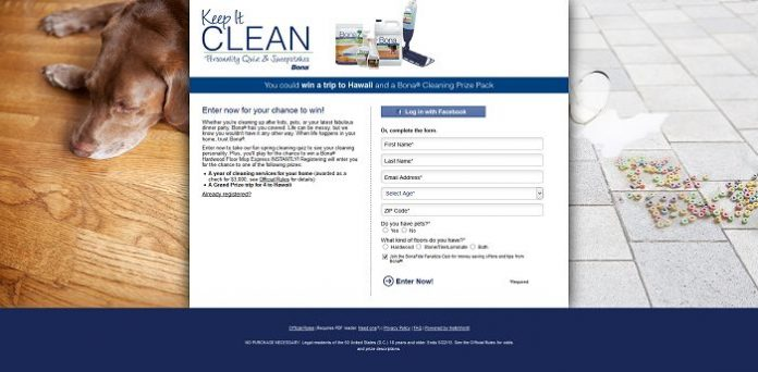 Keep it Clean Personality Quiz and Sweepstakes