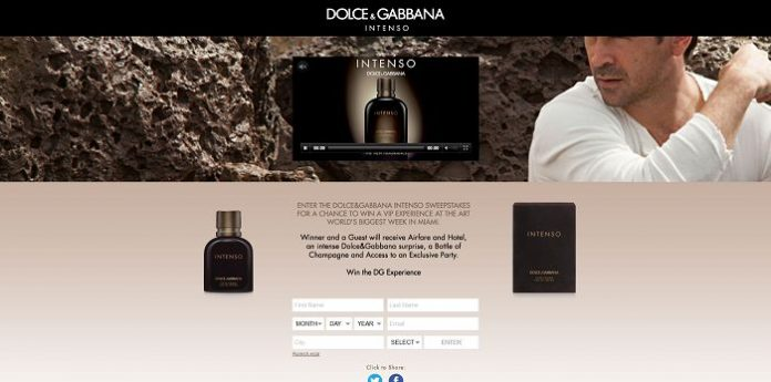 Dolce Gabbana Intenso Sweepstakes