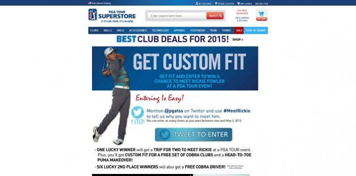 PGA TOUR Superstore Meet Rickie Fowler Sweepstakes