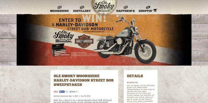 Ole Smoky Harley-Davidson Street Bob Sweepstakes