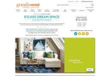 Grandin Road $12,000 Dream Space Sweepstakes