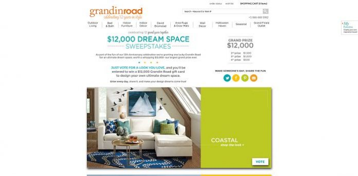 Grandin Road $12,000 Dream Space Sweepstakes