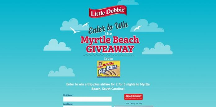 Little Debbie Fig Bar Myrtle Beach Giveaway