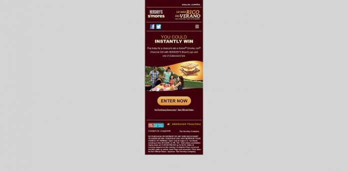Hershey's 2015 Summer S'Mores Grilling Instant Win Game