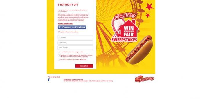 Gwaltney Win Your Own Fair Sweepstakes