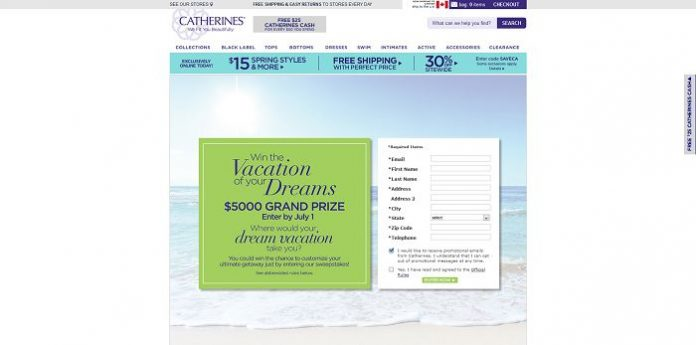 Catherines Vacation Of Your Dreams Sweepstakes