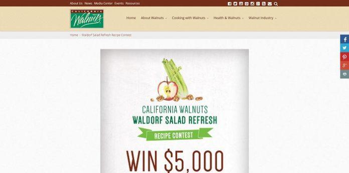 California Walnuts Waldorf Salad Refresh Recipe Contest