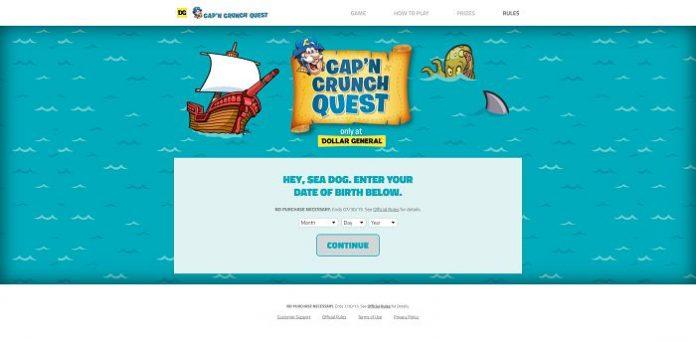 Cap'n Crunch Quest Sweepstakes (CapnCrunchQuest.com)