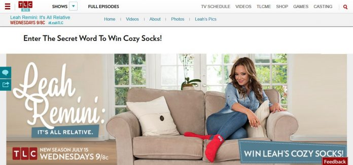 TLC's Leah Cozy Socks Sweepstakes (TLC.com/Leah)
