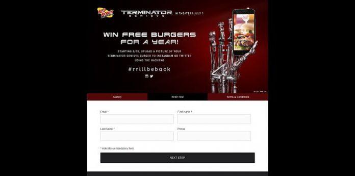 Red Robin's Terminator Genisys Burger Contest