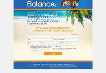 Restore Your Balance Sweepstakes (RestoreYourBalanceSweeps.com)
