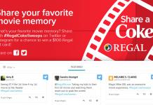 Coca-Cola And Regal Cinemas Share a Coke Sweepstakes (RegalCokeMoviememories.com)