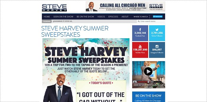 steve harvey sweepstakes steve harvey sweepstakes 28 images steve harvey annual 1788