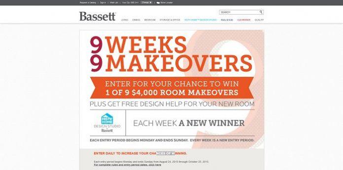 Bassett 9 Weeks, 9 Makeovers Sweepstakes