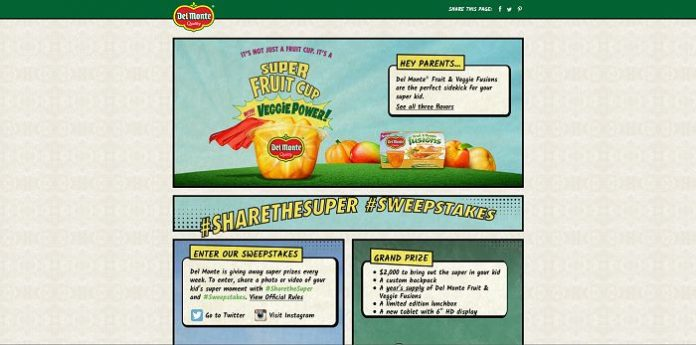 Del Monte Sweepstakes