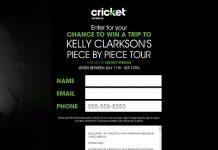 Cricket Wireless VIP Concert Fly Away Sweepstakes (CricketSweepstakes.com/KellyClarkson)