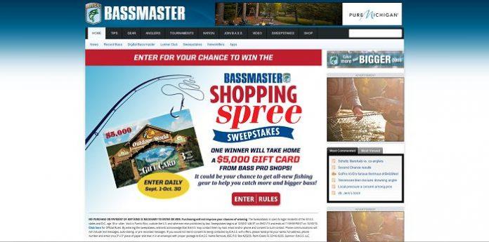 Bassmaster Shopping Spree Sweepstakes