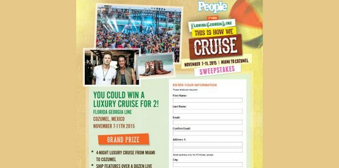 People.com/ThisIsHowWeCruise - PEOPLE This Is How We Cruise Sweepstakes