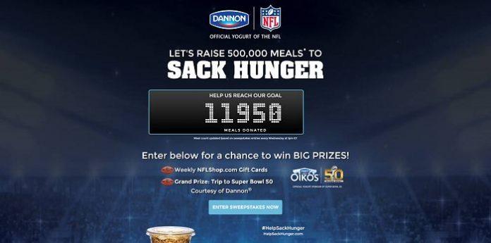 HelpSackHunger.com - Sack Hunger Sweepstakes