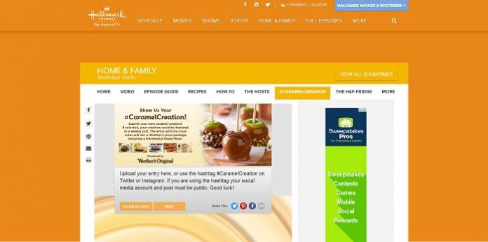 Hallmark Channel's Caramel Creation Contest
