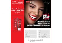 Colgate Optic White Latin Grammy Trip Sweepstakes (OpticWhiteStyle.com)