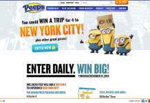 Just Born's PEEPS Minions Win A Trip To NYC Sweepstakes