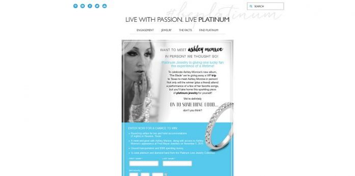 Platinum Jewelry's On Something Good Sweepstakes