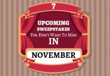 Upcoming Sweepstakes November