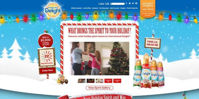 International Delight's Share Your Holiday Spirit Contest