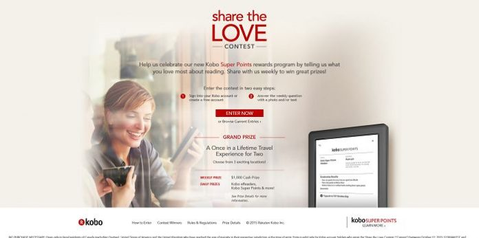 Kobo's Share the Love Contest