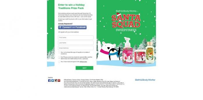 SantaSquad Sweepstakes