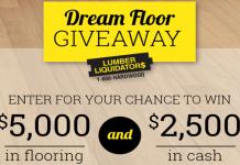 Lumber Liquidators Dream Floor Giveaway 2017 (DIYNetwork.com/DreamFloor)