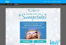 ION Share The Joy Sweepstakes