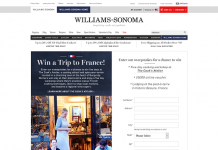 Williams-Sonoma.com/FranceTrip Sweepstakes