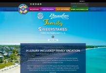 WheelOfFortune.com Beaches Resorts Family Sweepstakes