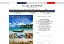 Williams-Sonoma Trip To Thailand Sweepstakes