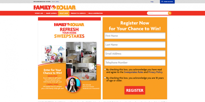 FamilyDollar.com/RefreshYourHome - Family Dollar Home Refresh Sweepstakes