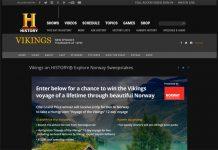 Vikings on HISTORY Explore Norway Sweepstakes