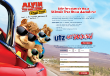Utz Ultimate Tree House Adventure with Alvin and the Chipmunks: Road Chip Sweepstakes